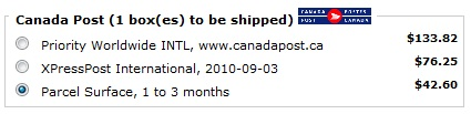 canada post international shipping