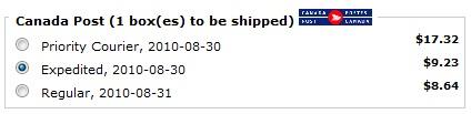 canada post domestic shipping