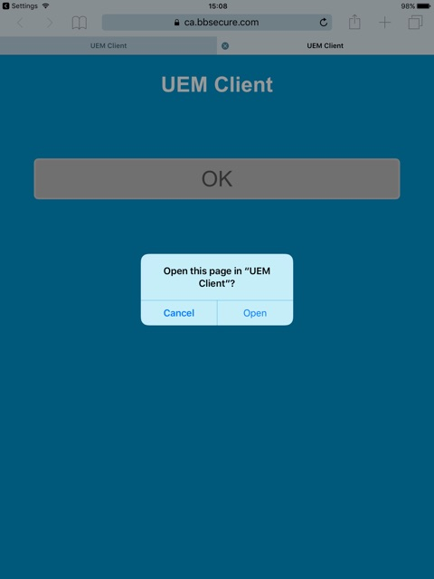 How to activate an iOS device with BES UEM on Exchange 2016