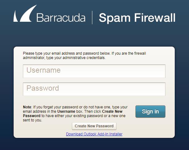 Manage Barracuda Spam Firewall Settings - Hosting ca