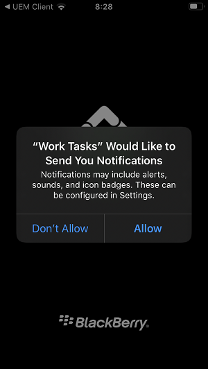 bes uem work tasks
