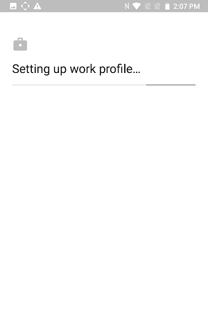 work profile setup