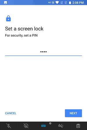 uem screen lock